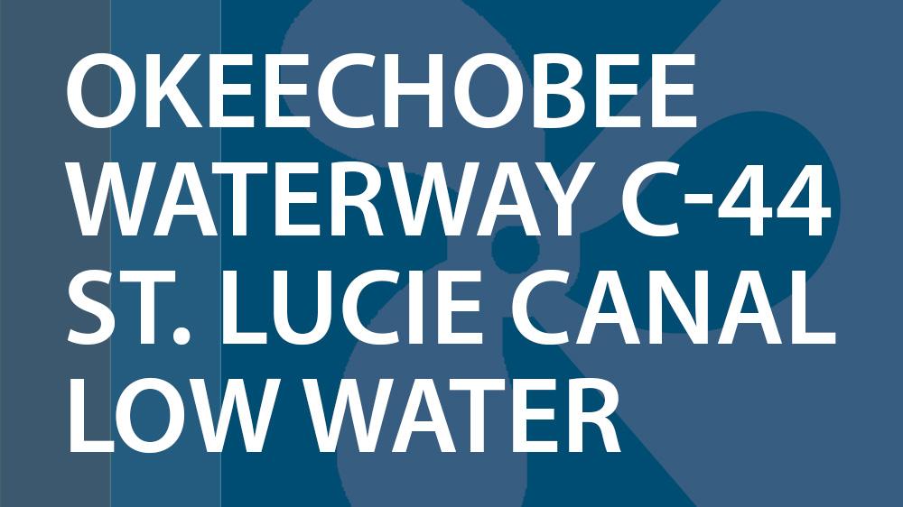 Okeechobee Waterway Low Water