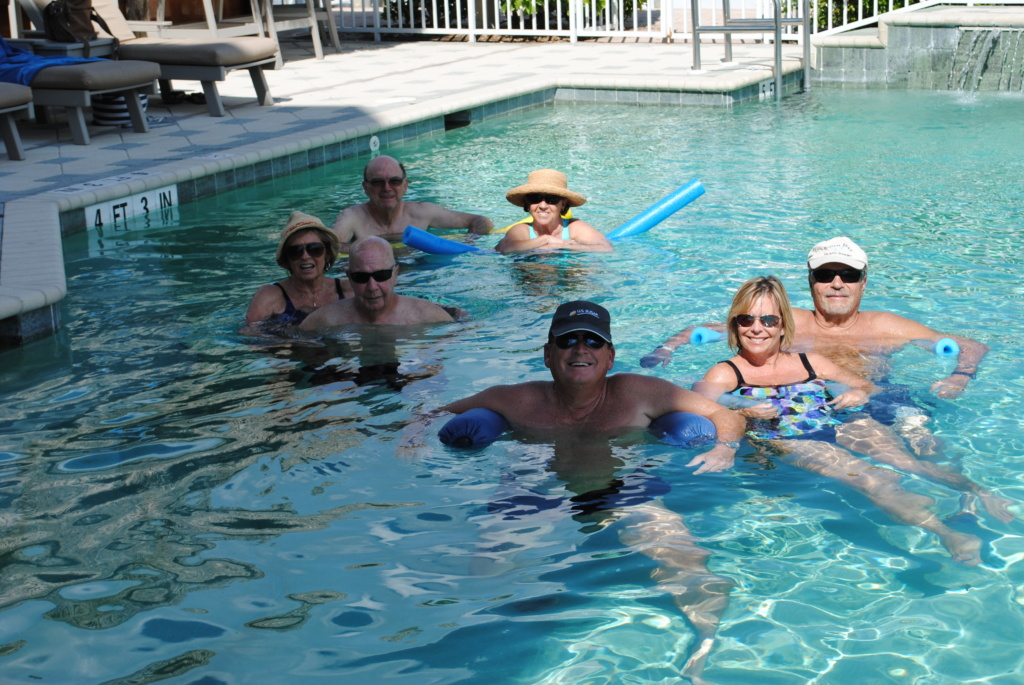 Members enjoying the pool.