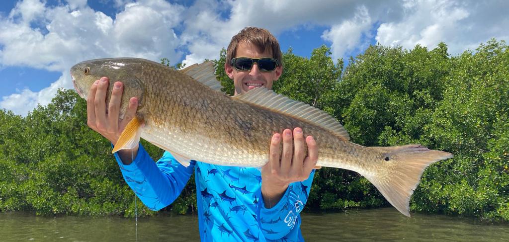 Davis Hasson holding Redfish
