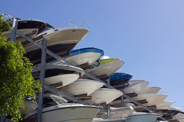 Boats outdoor storage