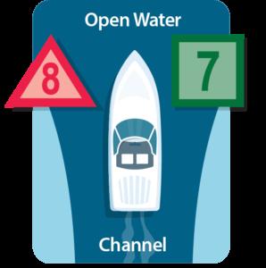 When traveling toward open water
