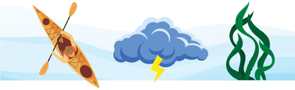 Kayak, Storm and Seagrass