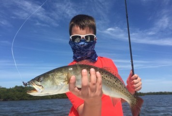 """Captain Terry says """"Spring is here and so are 'Gator' trout, Pompano, Spanish Mackerel and big Snook."""""""