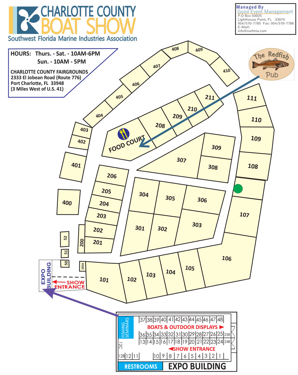 Charlotte County Boat Show Layout