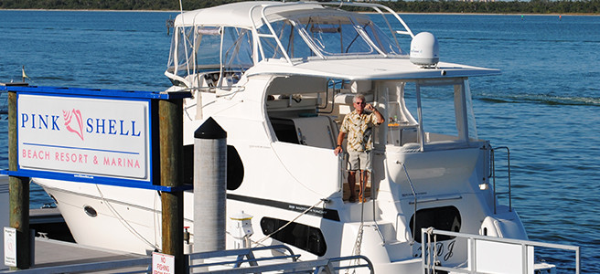 Cape Coral Cruise Club visits Pink Shell Resort Marina