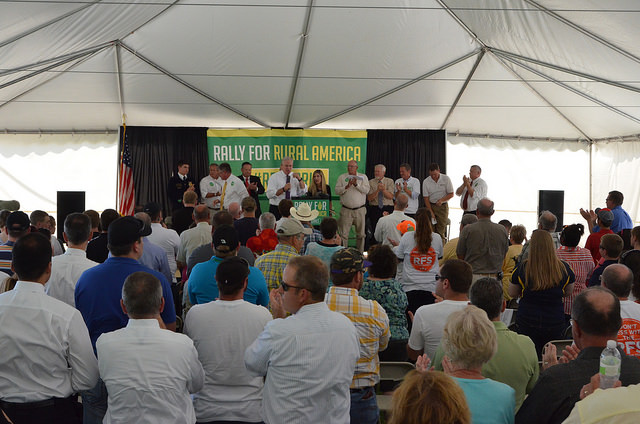 Governor Jay Nixon (MO) energizes hundreds of Pro-Ethanol Supporters at EPA Hearing (Credit: AgWired).